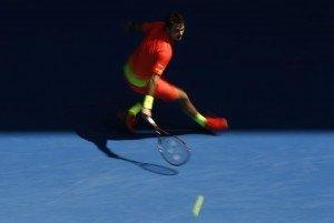Switzerland's Stan Wawrinka hits a shot during his third round match against Czech Republic's Lukas Rosol at the Australian Open tennis tournament at Melbourne Park, Australia, January 23, 2016. REUTERS/Jason Reed
