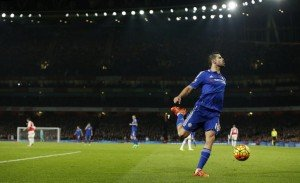"""Football Soccer - Arsenal v Chelsea - Barclays Premier League - Emirates Stadium - 24/1/16 Chelsea's Diego Costa  Action Images via Reuters / John Sibley Livepic EDITORIAL USE ONLY. No use with unauthorized audio, video, data, fixture lists, club/league logos or """"live"""" services. Online in-match use limited to 45 images, no video emulation. No use in betting, games or single club/league/player publications.  Please contact your account representative for further details."""