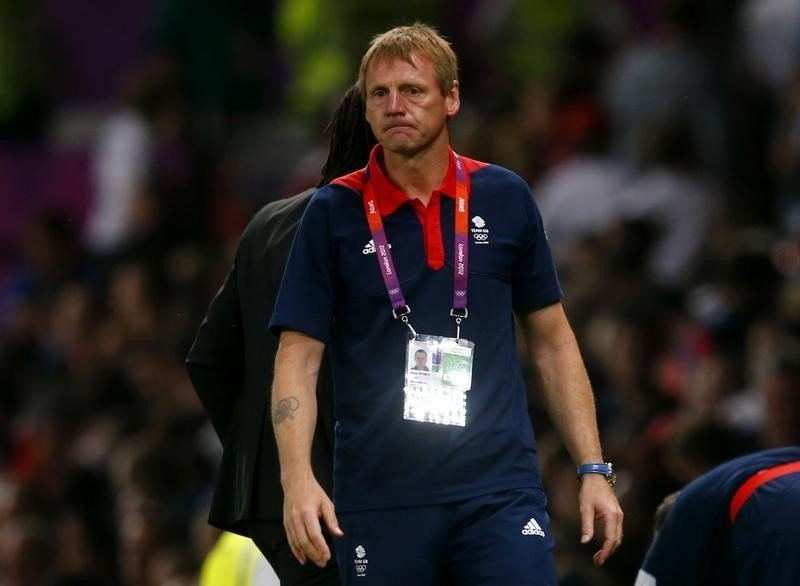 Former Britain's coach Stuart Pearce looks on after his team's men's Group A football match against Senegal at the London 2012 Olympic Games in Old Trafford, Manchester, northern England July 26, 2012. REUTERS/Eddie Keogh