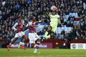 Raheem Sterling Aston Villa v Manchester City