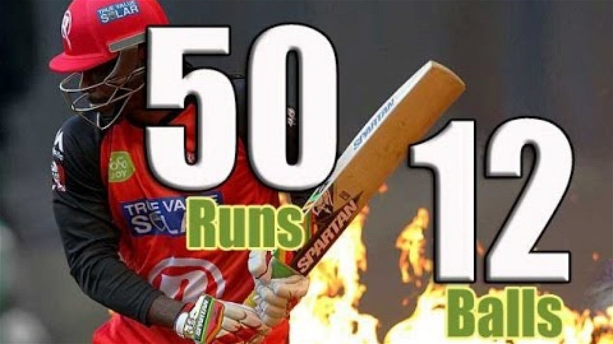 Gayle 12 ball fifty to equal world record of Yuvraj Singh - essentiallysports.com