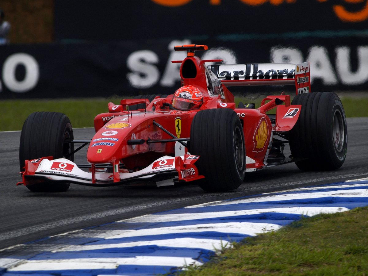 Micheal Schumacher in the F2004- Brazilian GP