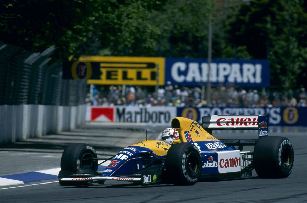 Nigel Mansell in the FW14B