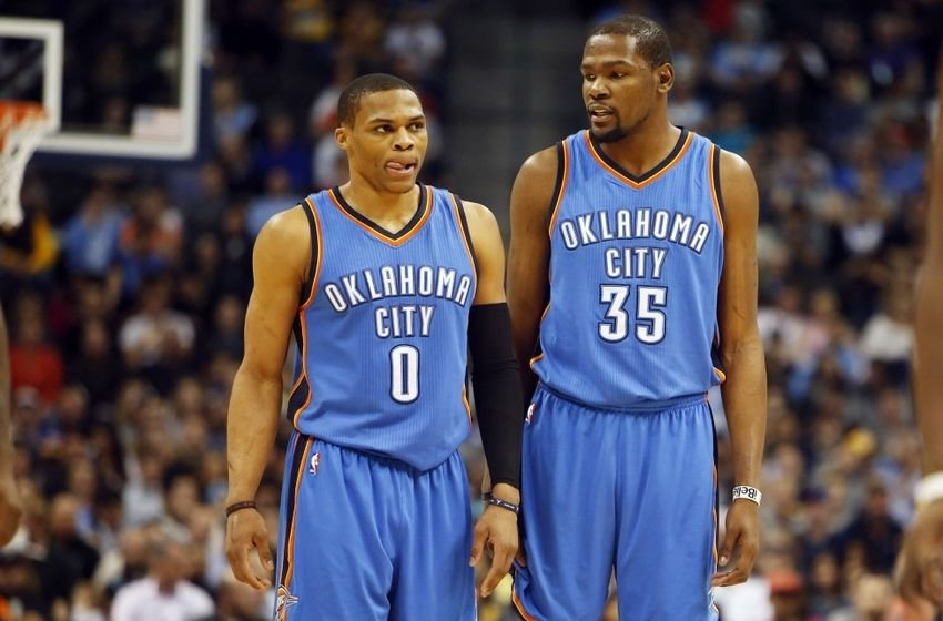 The Oklahoma City Thunder duo are now back together and likely to cause the Warriors a lot of trouble, especially with an added dimension of play shown by Kevin Durant this season