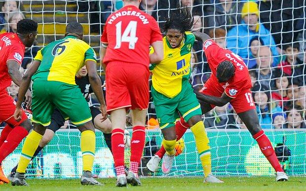 Barclays Premier League 2015/16 Norwich City v Liverpool Carrow Road, Norwich, United Kingdom - 22 Jan 2016