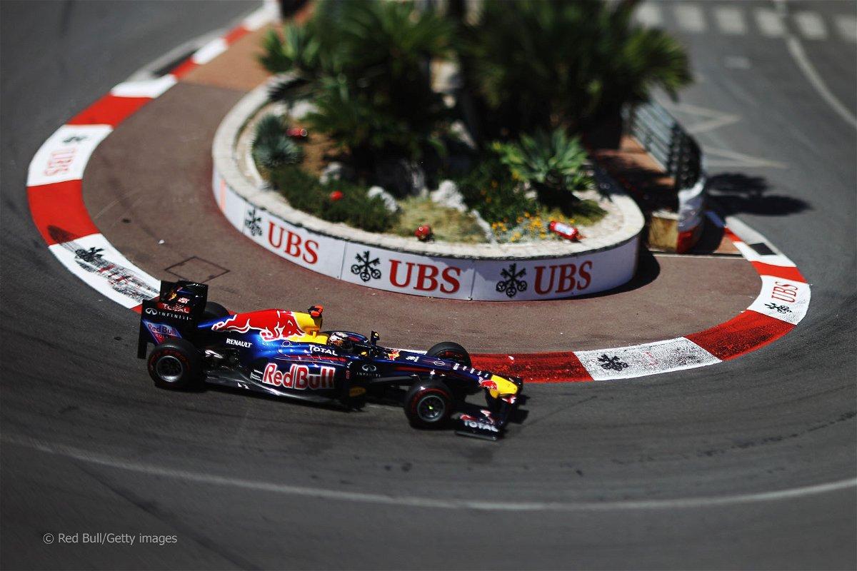 Sebastian Vettel drives the RB7 around Monaco.