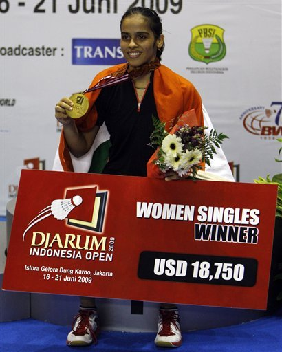 Saina Nehwal's first Superseries win