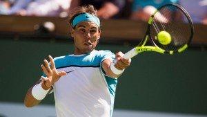 Rafael Nadal was beaten by Novak Djokovic