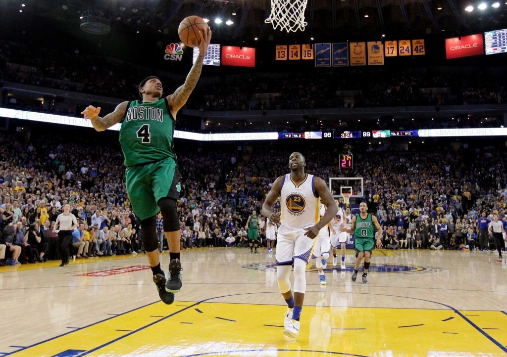 The Celtics ended the Warriors 54 game home winning streak, and stopped the team from going unbeaten at home during the 2015-16 season.