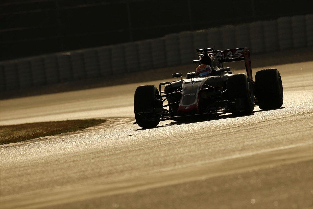 Grosjean in the Haas VF-16