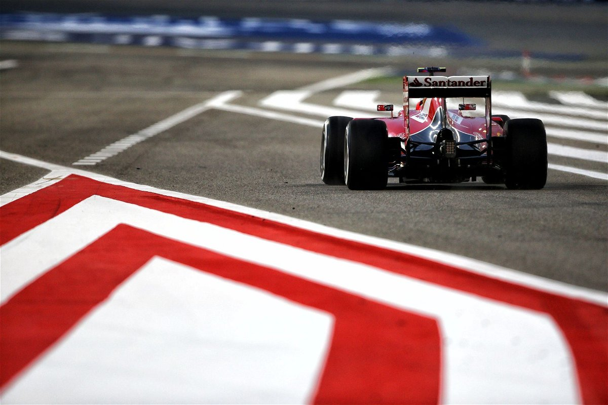Kimi Raikkonen drives the SF-16 around Bahrain
