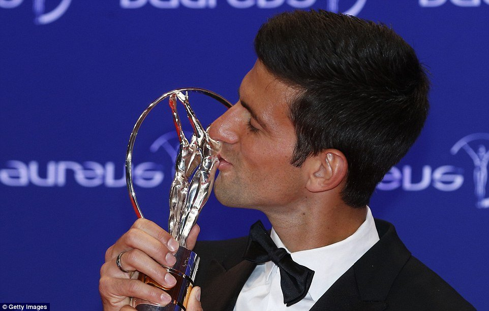 Novak Djokovic took home the Laureus Sportsman of the Year for the third time, previously winning the award in 2012 and 2015.