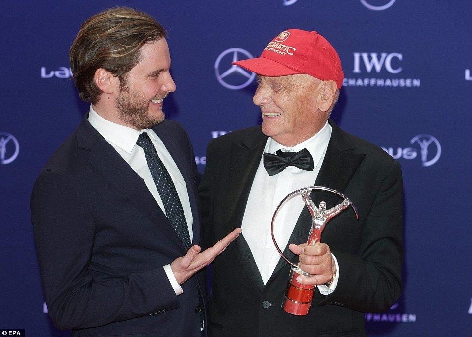 Former Forumla 1 driver Nikki Lauda was presented with the Laureus Lifetime Achievement award