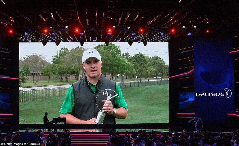 Jordan Spieth won the Laureus Breakthrough of the Year award