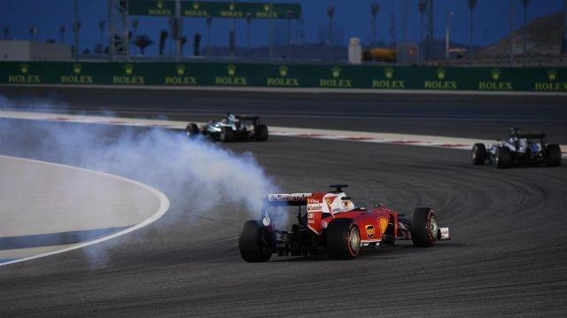 Vettel's engine blowout in Bahrain