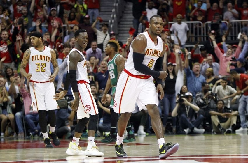 Paul Millsap (4) Dennis Schroder (17) are some of the key players for the Hawks in their playoffs