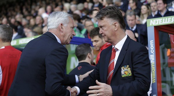 Alan Pardew and Van Gaal would love finishing the season on a high
