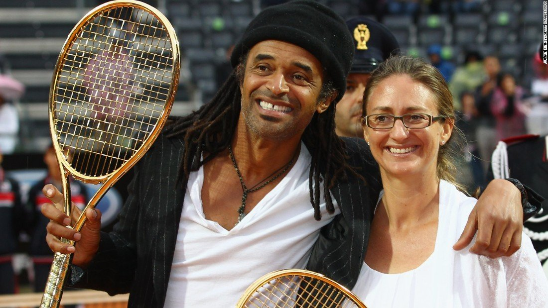 Yannick Noah Mary Pierce Roland Garros French Open