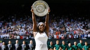 Serena Williams after winning her 21st career Grand Slam.(Photo by Kirsty Wigglesworth/AP Photo)