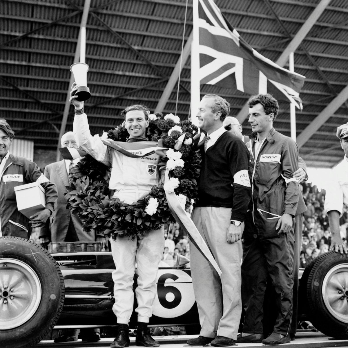 Jim Clark (pictured here in 1963) is a 5 time winner of the British Grand Prix. His tally is only matched by Alain Prost.