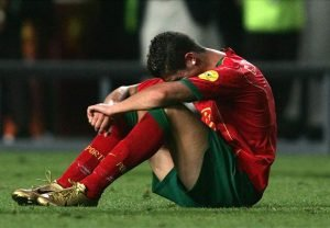 Ronaldo and the whole of Portugal was handed a shock in Euro 2004 finals