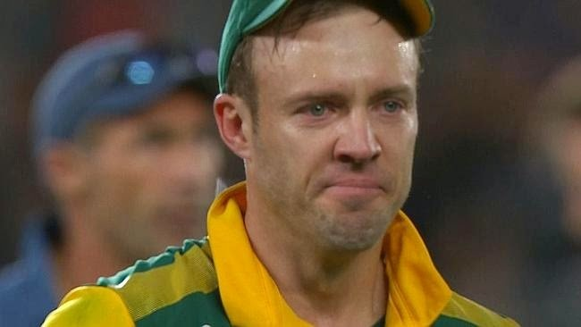 AB de Villiers post SA's loss to New Zealand in WC 2015 SF.