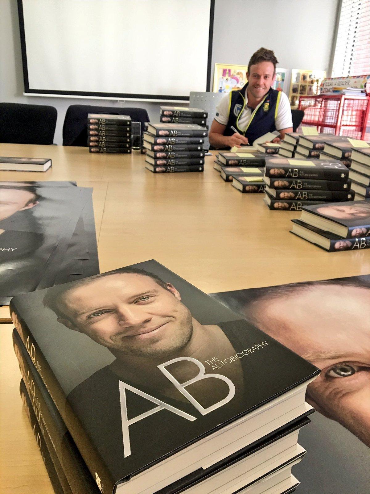 AB De Villiers' autobiography