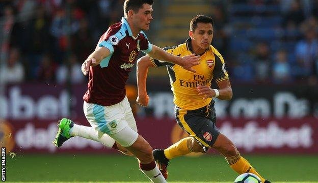Michael Keane marshalled the Burnley defence with great effect