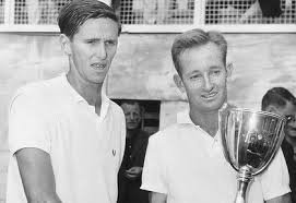 Emerson won 3 of his Doubles Grand Slams partnering the legendary Rod Laver (right).