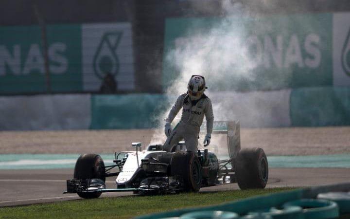 Lewis's engine failure at Malaysia