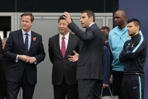 Chinese President Xi Jinping at the Etihad Stadium