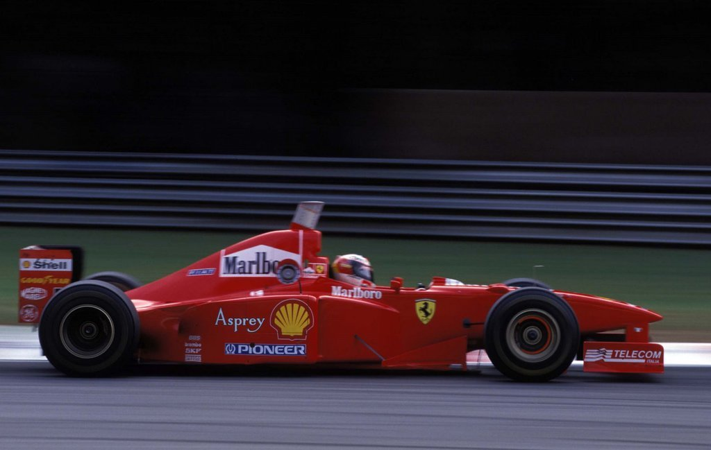 Schumacher's first Ferrari victory