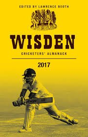 Wisden leading cricketer for 2016