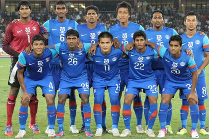 separation shoes 83000 b5d1e New High for India as National Football Team rises to 100th ...