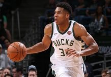 Giannis Antetukounmpo of Milwaukee Bucks