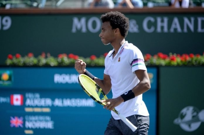 Felix Auger-Aliassime at Indian Wells 2019