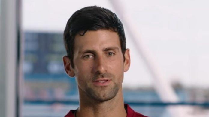 Novak Djokovic at US Open 2019