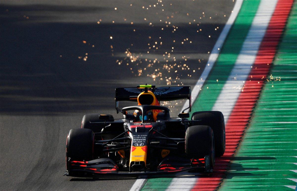 Alex Albon during the race at the Emilia Romagna Grand Prix 2020