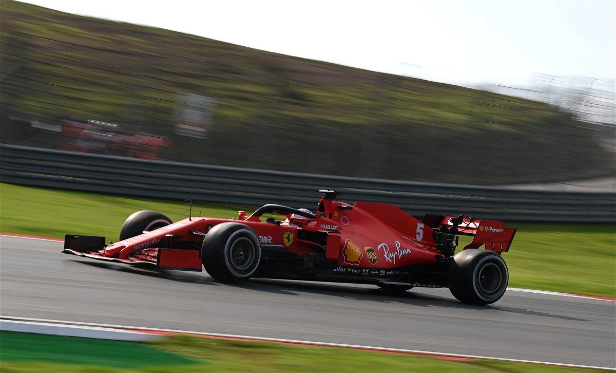 F1 - Sebastian Vettel dari Ferrari selama FP1 selama Grand Prix Turki 2020
