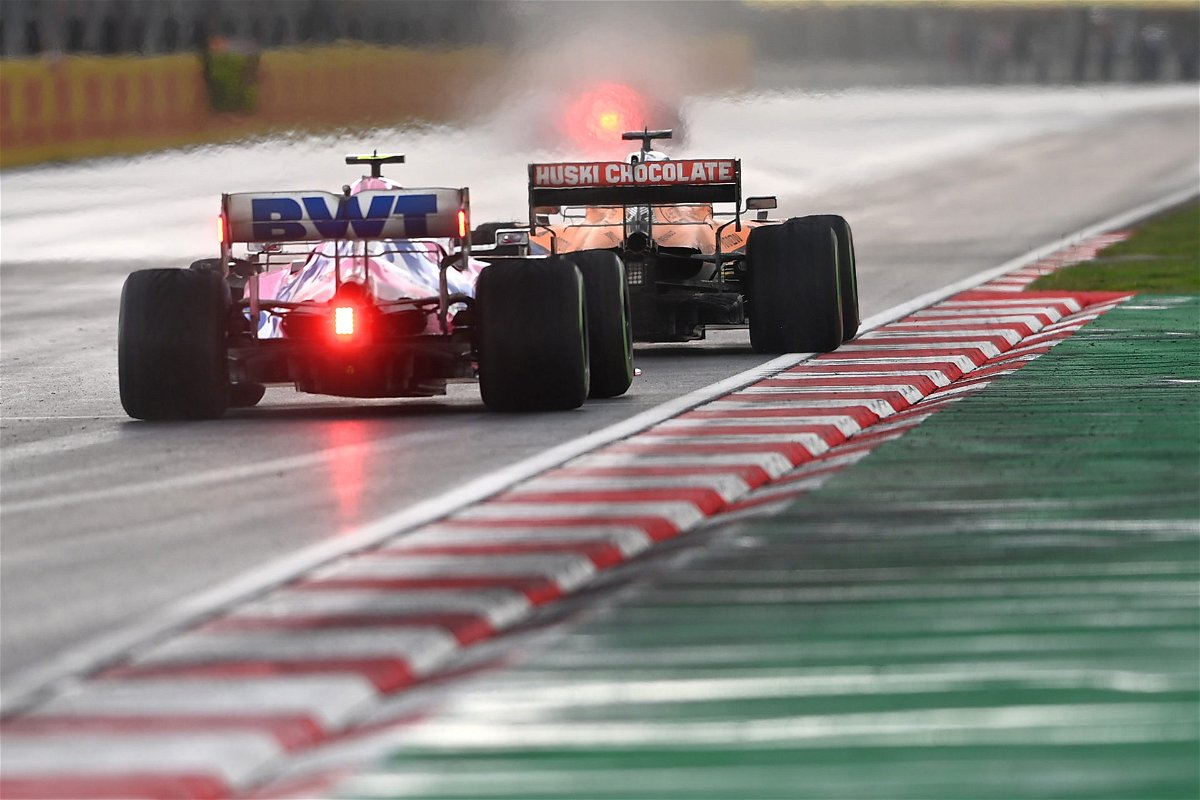 Racing Point and Mclaren race each other at Turkish Grand Prix race 2020