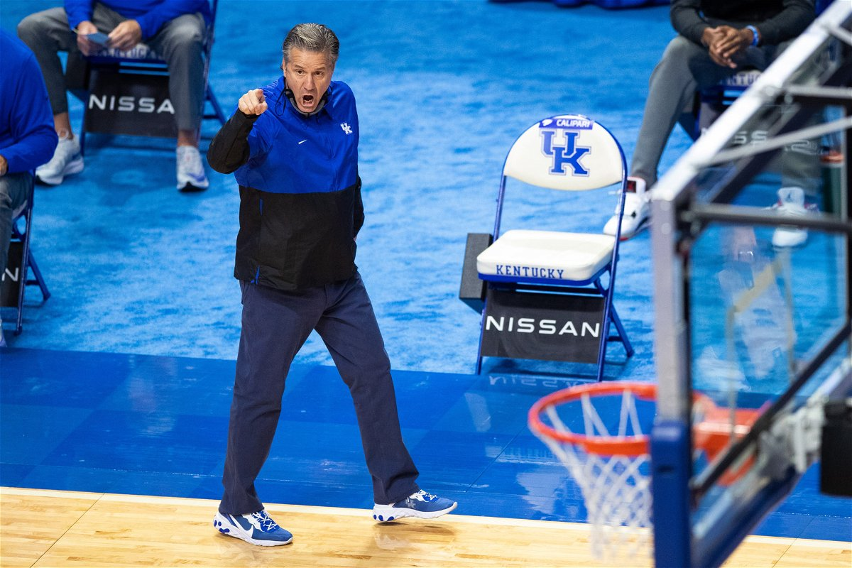Kentucky Wildcats John Calipari during the game against Morehead State