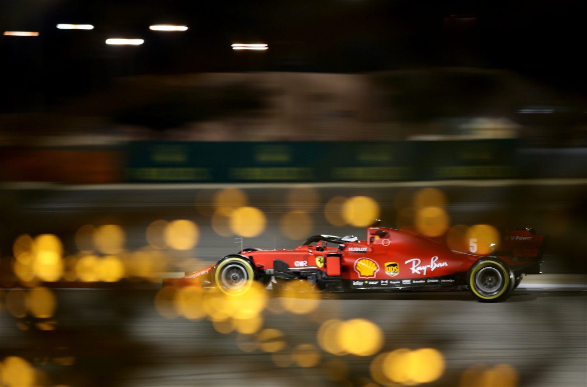 Ferrari Sebastian Vettel during the qualifying at Bahrain Grand Prix 2020