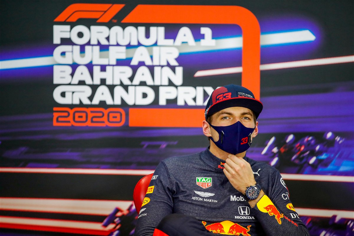 Max Verstappen during the press conference after the race