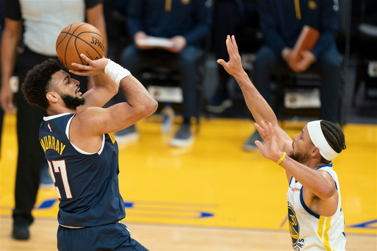 Denver Nuggets guard Jamal Murray against Warriors' Steph Curry