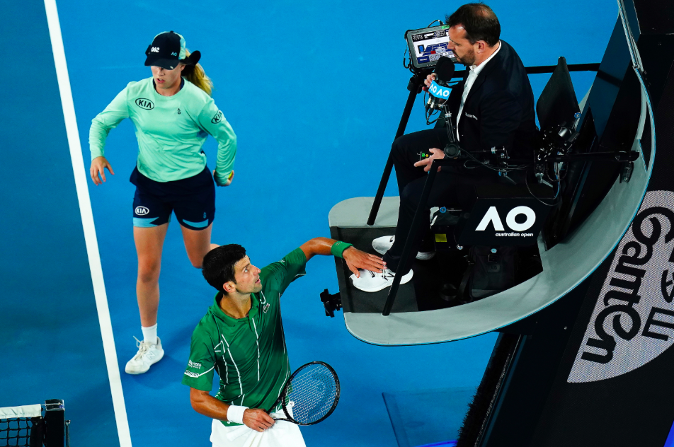You Made Yourself Famous Novak Djokovic Mocks Chair Umpire As He Receives Two Time Violations Essentiallysports