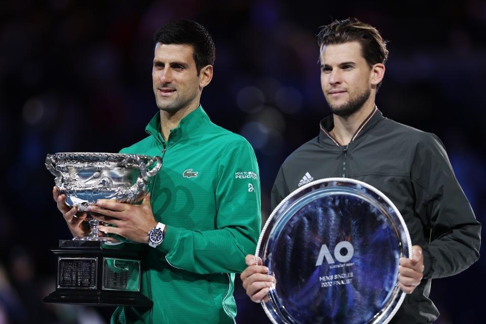 Novak Djokovic and Dominic Thiem