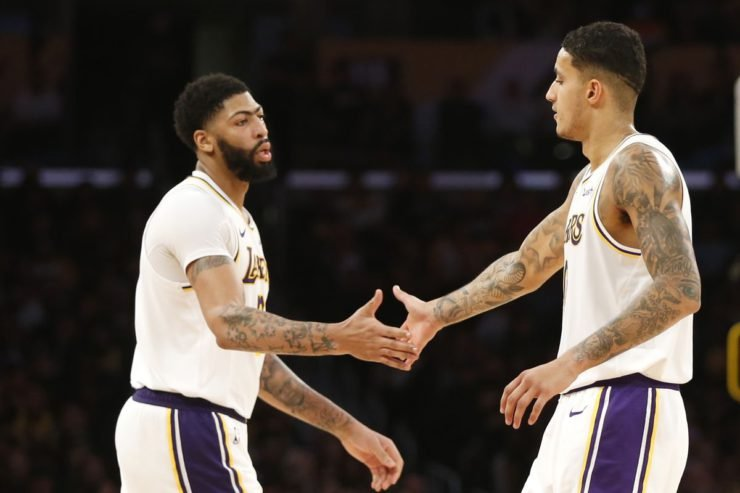 Anthony Davis and Kyle Kuzma