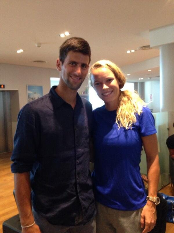 Watch: When Caroline Wozniacki Interrupted Novak Djokovic Press Conference - Essentially Sports