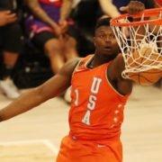 Zion Williamson dunking