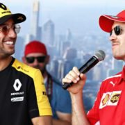 F1 drivers- Ricciardo and Vettel